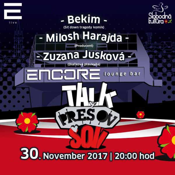 30. novembra 2017  TALKSHOW PREŠOV